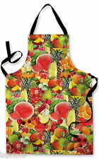 FRUITS ALL OVER DESIGN APRON KITCHEN BBQ COOKING FATHERS DAY PAINTING GIFT