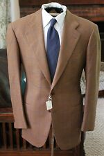 ULTIMATE Sartoria Cesare Attolini Napoli NWT Brown Herringbone Tweed Window Pane