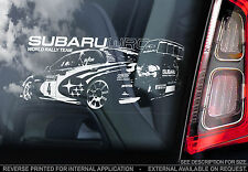 Subaru Impreza - Car Window Sticker - Colin McRae Rally Scooby WRC STI