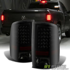 Black Smoke 2009-2016 1500 2010-2016 2500/3500 Dodge Ram LED Tail Lights Lamps