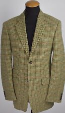 McNeal Harris Tweed Mens Blazer size 38R Wool Houndstooth Check Plaid gr 48