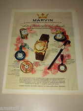 *63=MARVIN OROLOGIO WATCH=1958=PUBBLICITA'=ADVERTISING=PUBLICIDAD=WERBUNG=