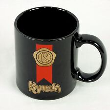 Vintage Kahlua Coffee Mug Cup Black Gold Seal Red Ribbon Japan Collectible
