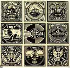 Shepard Fairey OBEY - 50 SHADES OF BLACK - ALBUM COVER STICKER SHEET - Limited