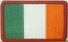 IRELAND IRISH Flag Embroidered Iron-On Patch Military Shouder Emblem Red Border