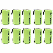 10 x 2/3 AA 2/3AA 800mAh NiMH 1.2V Rechargeable Battery with tab Green US Stock