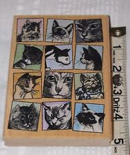 KITTY TILES Rubber Hampton Art Stamp Kitten Cats Diffusion by Jill Meyer