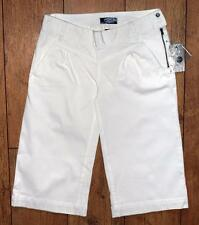 Bnwt Women's Oakley Stretch 3/4 Capri Pants Jeans Trousers UK8 White Bite Gaucho