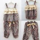 2 Pieces Baby Girls Kids Children Vest + Pants Clothes Suits Outfits Sets 2-6Y