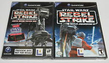 Star Wars Rogue Squadron III Rebel Strike + Preview Disc GameCube USA NTSC * NEW