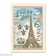 Michel Design Works Cotton Kitchen Tea Towel Paris Eiffel Tower - NEW