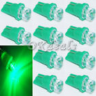 10X 94 501W5W168 T10 LED Car Wedge Inverted Indicator Side Light Lamp Green peAU