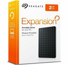 SEAGATE EXPANSION 2 TB PORTABLE HARD DRIVE = BLACK