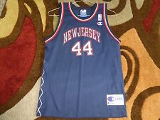 Vtg Keith Van Horn #44 New Jersey Nets Champion NBA Jersey Sz Youth L 14-16