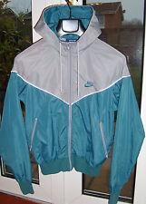 Rare Vintage Nike Windrunner -  US Blue Label Silver/Teal Nylon Jacket - Size S