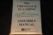 1964 CHEVELLE EL CAMINO  ASSEMBLY MANUAL 100'S OF PAGES OF PICTURES, PART NUMBER