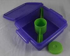 Tupperware Lunchbox mit Teiler inkl kleiner Behälter Lila Violett / Grün Neu OVP