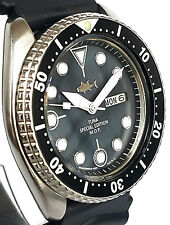 Vintage SEIKO 6309 diver SKX mod w/White DAGGER hand set on Mother of Pearl dial