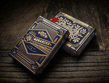 V022 Rare 1Pcs Blue Golden Bicycle Monarch Deck King Playing Cards By Theory11