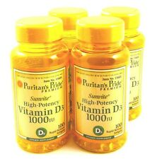 4X Sunvite Vitamin D D-3 1000IU Immunity Blood Pressure Weight Loss Osteoporosis