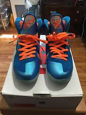 (926) 100% Authentic Nike Lebron 9 China Size 13 Blue/Orange