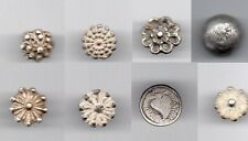 OLD SPANISH COLONIAL BUTTON LOT 8 SILVER LOT PIRATE TIMES XVII-XVIII TH CENTURY