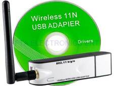 150Mbps WiFi Wireless Adapter 300M USB Lan Network Card IEEE 802.11b/g/n Antenna