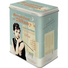 Nostalgic Art 30119 Breakfast at Tiffany's Blue L Storage Box NEW