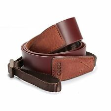 Brown Soft Leather Camera Shoulder Neck Strap 75-115cm Adjustable for DSLR