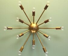 "Mid century 12 Light Sputnik Wall Sconce Light - Sputnik Wall Mount Lamp - 24""D"