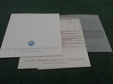 1989 VW FLEET MANAGEMENT SERVICES Leasing etc UK BROCHURE Polo Golf Jetta Passat