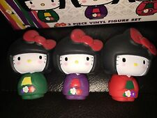 RARE Hello Kitty Collectible 3 Vinyl Set JANM Japanese American National Museum