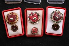 Hungary Lot I II III Classes Socialist Brigade Pin Communist Lot Labor Medal Box