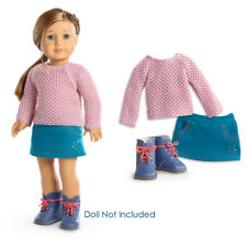 "American Girl TM SPARKLE SWEATER OUTFIT for 18"" Dolls Skirt Boots Clothes NEW"