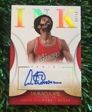 2013-14 IMMACULATE COLLECTION #53 ARTIS GILMORE AUTOGRAPH CHICAGO BULLS #D /10