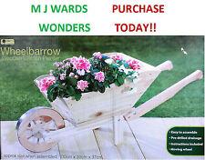 Brouette-jardinière en bois - 100 cm x 39cm x 37 cm ** ** acheter aujourd' hui