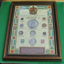 CANADA 1910 1936 Selected Canadian coinage George V French framed
