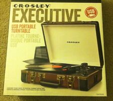 Crosley Executive USB Portable Turntable Brown & Black NEW NIB