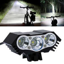 10000LM 3 x CREE T6 LEDs 4 Modes USB Cycling Bicycle Bike Light Headlight Torch