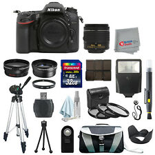 Nikon D7100 Digital SLR Camera Body + 3 Lens 18-55mm VR + 32GB All You Need Kit
