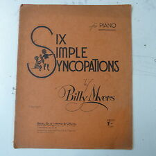 piano BILLY MYERS six simple syncopations , 13pages