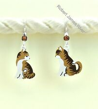 Sienna Sky Earrings -Tabby Cats