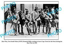 OLD LARGE PHOTO, NSW MOUNTED RIFLES, BOER WAR 1901