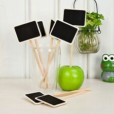 24pcs Mini Blackboard Chalkboards Sign on Stake/Labels Wedding Party Decorations