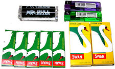 BULL BRAND CIGARETTE ROLLING ROLLER MACHINE & 5 PAPERS & 2 FILTERS & 2 LIGHTERS
