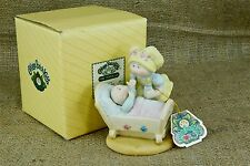 CPK Cabbage Patch Kids Porcelain Figurine Getting Acquainted Baby Crib 1983
