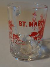Mini Glass Beer Mug: French: Saint-Martin; Dutch: Sint Maarten Caribbean Island