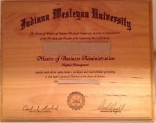 PERSONALIZED WOOD LASER ENGRAVED Diploma/Award/Certificate