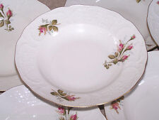 Rosenthal Classic Moss Rose Ivory with Gold 8 Rimmed Soup Bowls