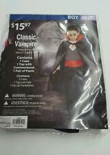 CLASSIC VAMPIRE, BOY Medium M 8, NEW  COSTUME HALLOWEEN Scary Dracula